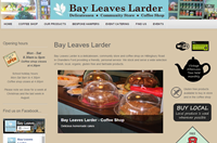 Website design: Bay Leaves Larder