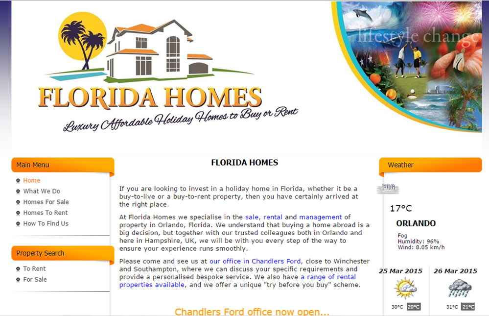 Website design: Florida Homes