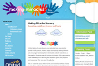 Website design: Making Miracles Nursery, Chandlers Ford and Hursley