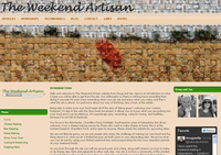 Website design: The Weekend Artisan