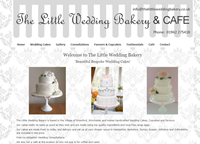 Website design: The Little Wedding Bakery, Winchester